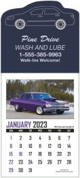 Memorable Muscle Cars Stick-Up Calendar Full-Color Images  25 shapes