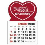 Stick-Up Calendar Heart shape, Spanish, Calendario en Español