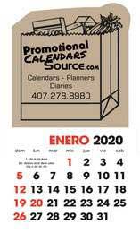 Stick-Up Calendar Spanish, Calendario Pegable en Español