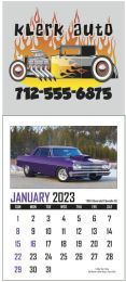 Full Color Adhesive Mini Calendar With Automotive Pad