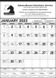 Black & White Contractor Memo Promotional Calendar 2018