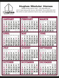 Big Numbers 12 Month View Commercial Calendar Size 22x29
