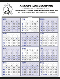 Year-At-A-Glance Calendar Size 22x29, 2019, Promotional