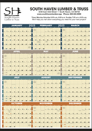 Year In View (Non-Laminated) Promotional Calendar Size 27x38