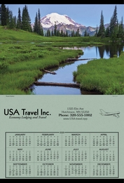 Span-A-Year Calendar 2019, 27x39, Yellowstone National Park