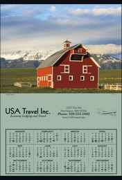 Jumbo Year In View Promo Calendar 27x39, Summer Barn