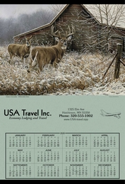 Jumbo Hanger Span-A-Year Promotional Calendar 2018 - White Tail Deer
