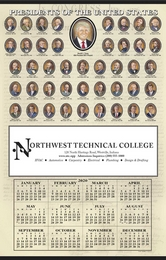 Presidents Span-A-Year Calendar 2019, Past Presidents Size 18x28