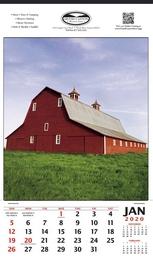 Single Image Hanger Calendar 2019 - Summer Barn Scene, 12x20.5