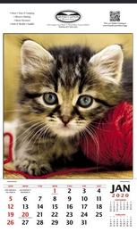 Vertical Hanger Promotional Calendar 2019 Kitten - Size 12x20.5