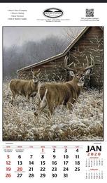 Wispering Creek White-Tailed Deer Vertical Hanger Promotional Calendar,12x20.5, 2019, Wildlife Theme