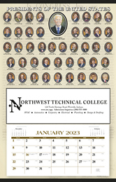 Presidents Hanger 12-Month Promotional Calendar 2019 - Past Presidents