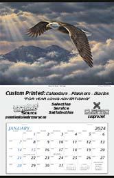 Large Hanger 2019 Promotional Calendar Bold Eagle Size 18x28