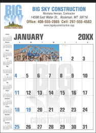 Custom Contractor Calendar 18 x 25