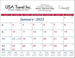 Patriotic Desk Pad Calendar 22x17