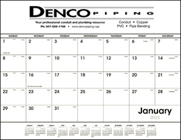 Promotional Desk Pad Calendar Black & White grid
