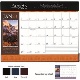 Motivations Promotional Desk Pad Calendar  w/ vinyl header