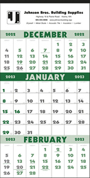 3-Month View Calendar with Julian Dates