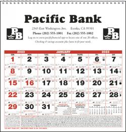 Small Almanac Promotional Calendar 2019