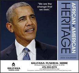 Barack Obama Promo Calendar African-American Heritage