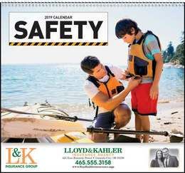 Safety Promotional Calendar , Spiral, Safety Tips
