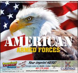 American Armed Forces Calendar, 2019, Spiral