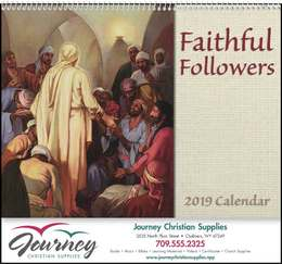 Faithful Followers Religious Calendar 2019 Spiral