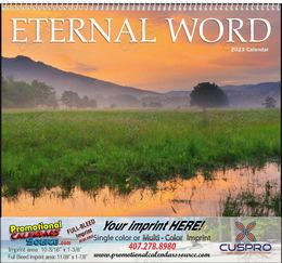 Eternal Word without Funeral Planner Religious Calendar, Bible Verses