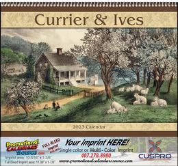 Currier & Ives Promotional Calendar 2019 Spiral
