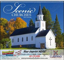 Scenic Churches - Promotional Calendar  Spiral