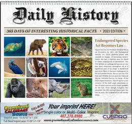 Daily American History Facts Calendar, 2019, Spiral