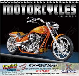 Custom Motorcycles Promotional Calendar, 2019, Spiral