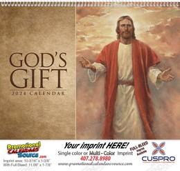 God's Gift Calendar, no Funeral Pre-Planning Sheet, Religious Promotional Calendar, Spiral