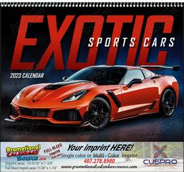 Exotic Sports Cars Promotional Calendar 2019 Spiral