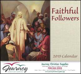 Faithful Followers Religious Promotional Calendar 2019 Stapled