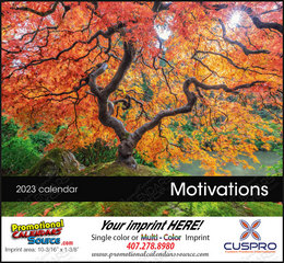 Motivations Promotional Calendar Stapled w/Drop Ad