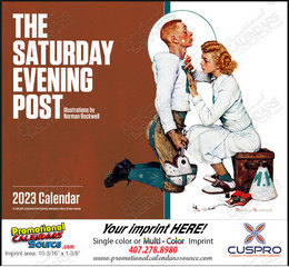 The Saturday Evening Post Promotional Calendar 2019 Stapled