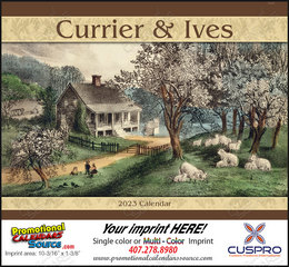 Currier & Ives Promotional Calendar 2019 Stapled