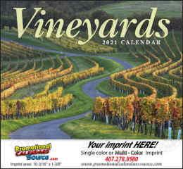 Around the World Vineyards, Promotional Calendar, 2019, Stapled