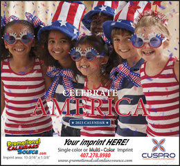 Celebrate America Customized Calendar, Stapled