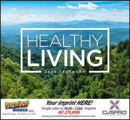 Healthy Living Promotional Calendar 2019 Stapled