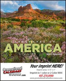 Mini Promotional Calendar Landscapes of America 2018