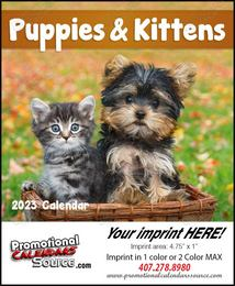 Puppies & Kittens Mini Promotional Calendar 2018