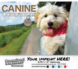 Canine Companions Wall Calendar  - Stapled