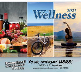 Wellness Wall Calendar 2019 - Stapled