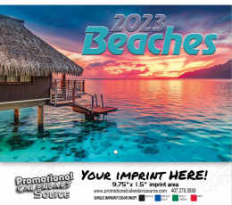 Beaches Wall Calendar  - Stapled