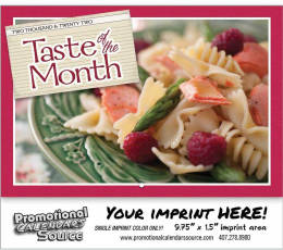 Taste of the Month Wall Calendar 2019 Stapled