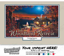 Woodland Retreats Wall Calendar 2019 - Stapled