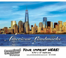 American Landmarks Wall Calendar 2019 - Stapled