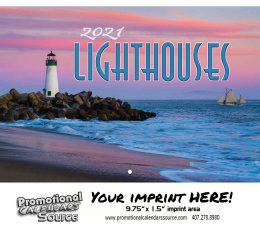 Lighthouses Wall Calendar  - Stapled